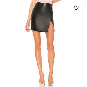 NEW Superdown Trinity Faux Black Leather Skirt (M)